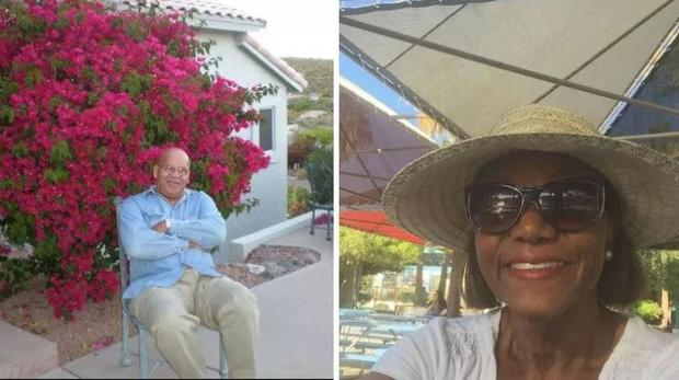 Bryon Thomas left and Mary Simmons were found dead in their Fountain Hills home.               KPHO
