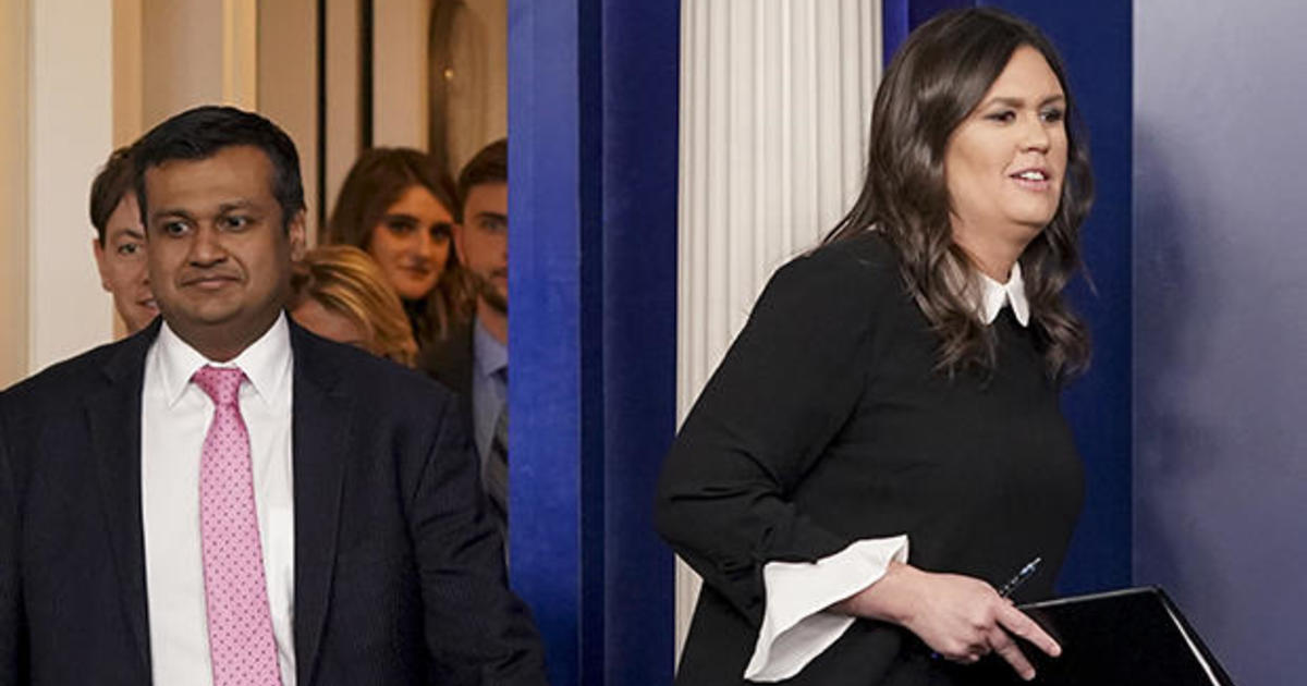 Image result for PHOTOS OF Raj Shah and Sarah Huckabee Sanders