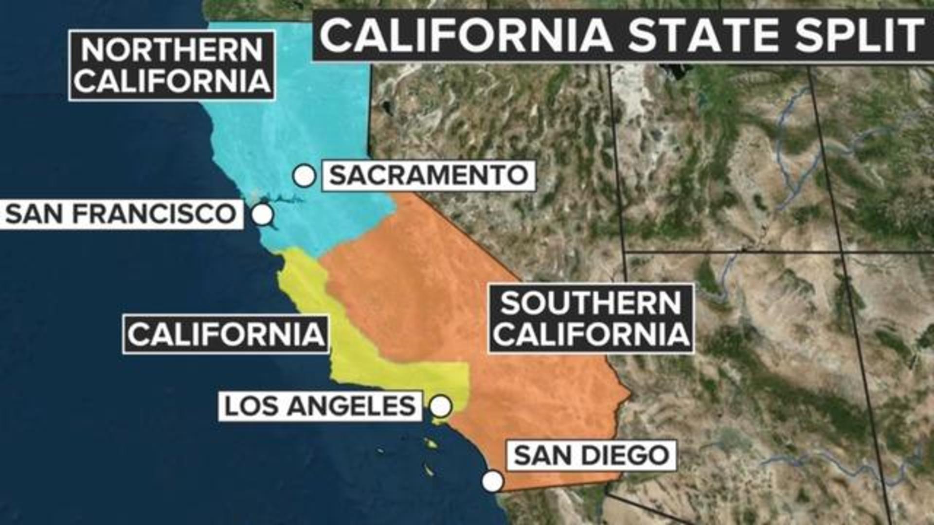 Measure To Split California Into 3 States Heads To November Ballot