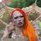 A reveller participates in Gay Pride Parade in Ljubljana