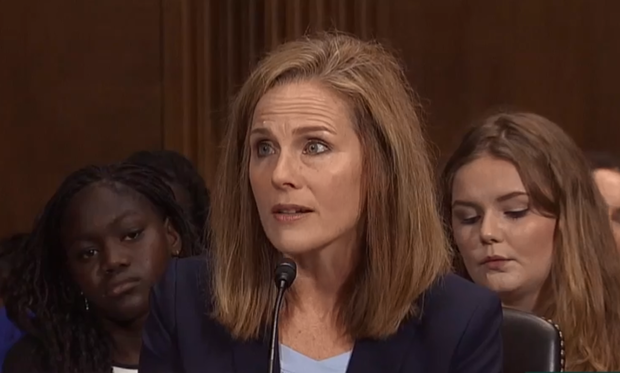 FILE Amy Coney Barrett               screen grab via C-SPAN