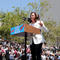 "Senator Kamala Harris speaks during a national day of action called ""Keep Families Together"" to protest the Trump administration's ""Zero Tolerance"" policy in Los Angeles"