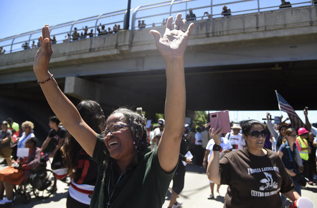 Protest March Chicago Expressway