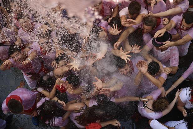 APTOPIX Spain Running of the Bulls Festival