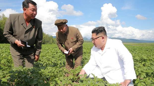 North Korea leader Kim Jong Un inspects the Junghung farm in Samjiyon county in this undated photo released by North Korea's Korean Central News Agency (KCNA) on July 10, 2018.
