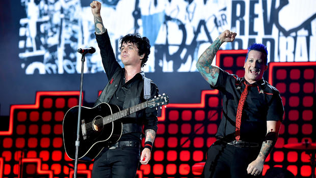 Green Day's 'American Idiot' climbs British charts ahead of Donald Trump visit