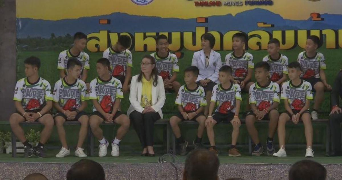 """Boy rescued from Thai cave says he's """"very happy"""" now"""