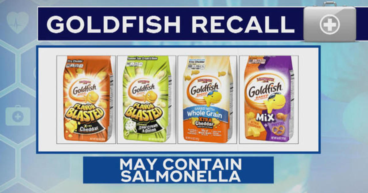 Some Goldfish crackers recalled, marking latest salmonella case