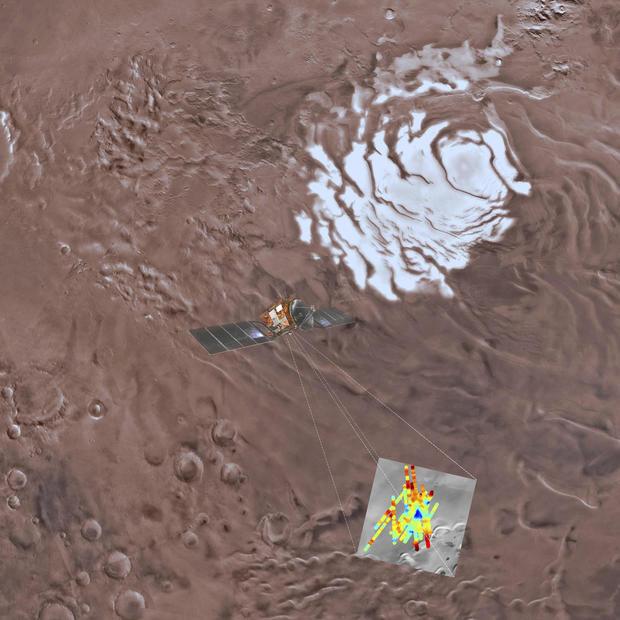 Space Mars Water Reservoir