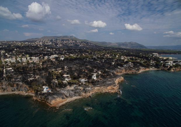 Greece fires near Athens tore through Mati and left