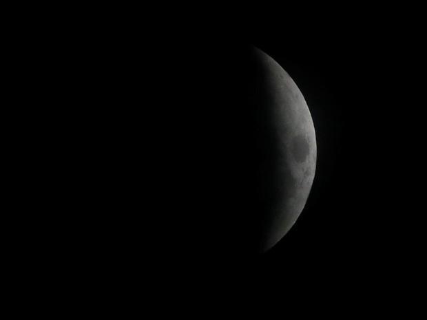 A full lunar eclipse is seen in Dambulla