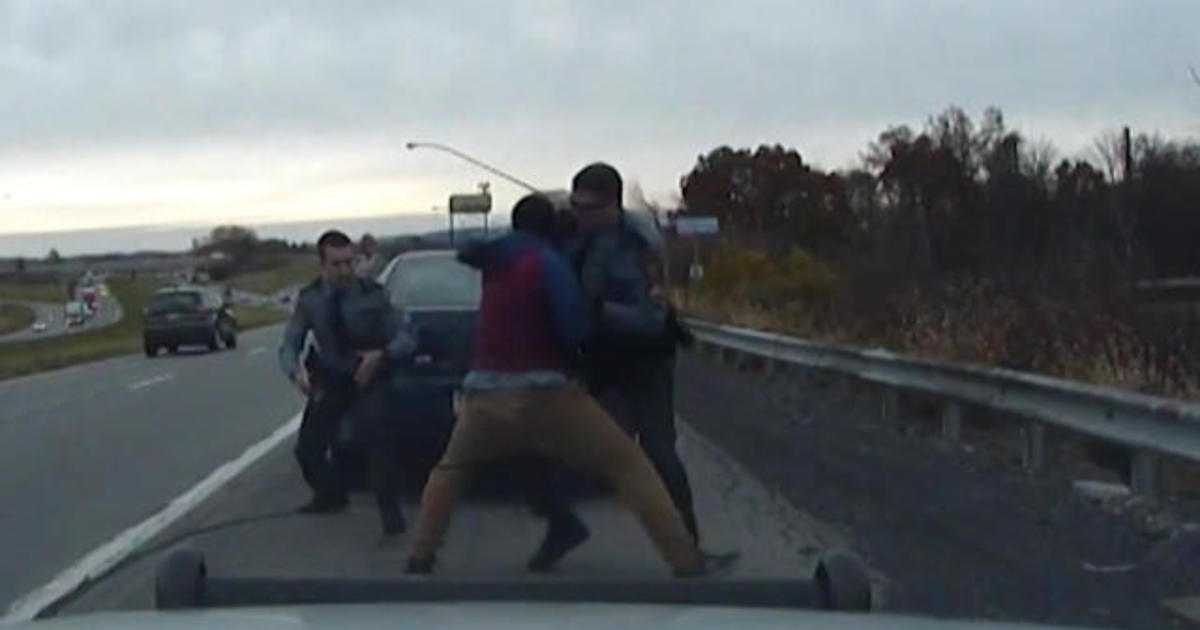 Dashcam Video Shows Moment Of Near Fatal Police Shootout