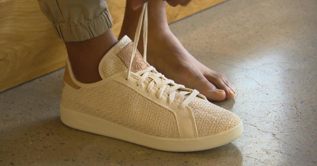 beb5bede4982bc Reebok launches sustainable sneaker made from cotton and corn - CBS News