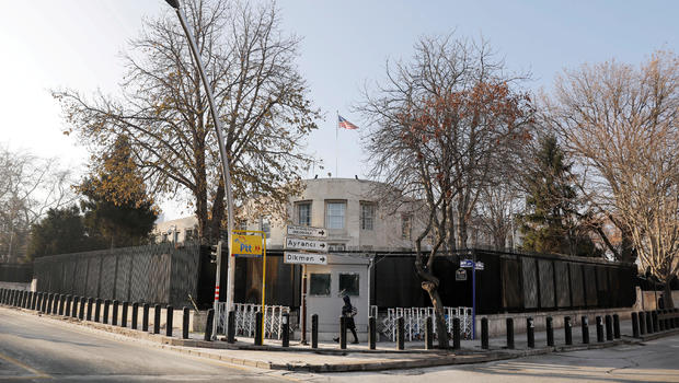 Turkey detains two men over shooting at USA  embassy in Ankara