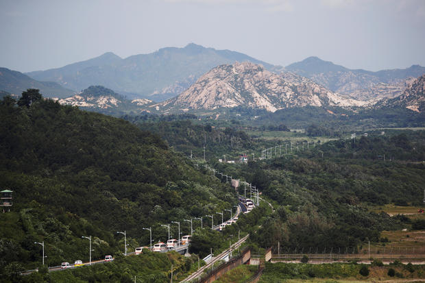 South Koreans cross inter-Korean border for family reunion
