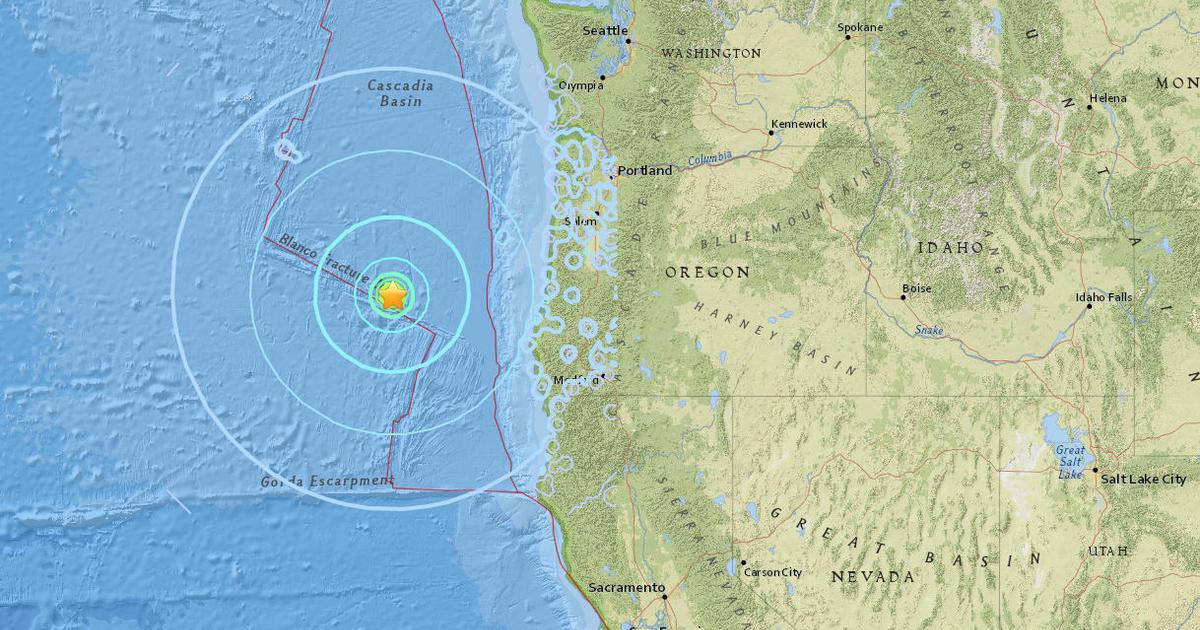 Oregon Earthquake 6 2 Magnitude Quake And Aftershock Strike West Of