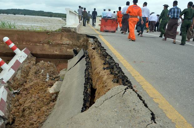 MYANMAR-FLOOD-DAM-DISASTER