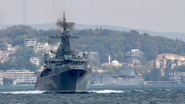 Russia announces 25 WARSHIPS deployed to MEDITERRANEAN amid fears of US attack on Syria