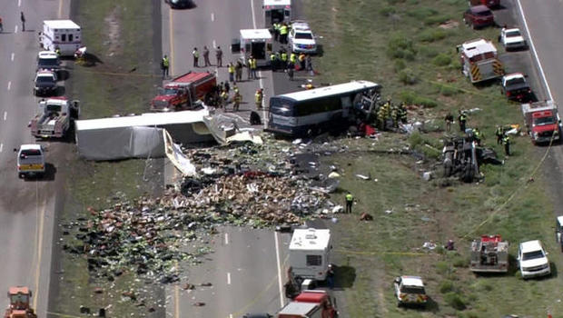 Survivor describes horror in New Mexico bus and semi-truck crash