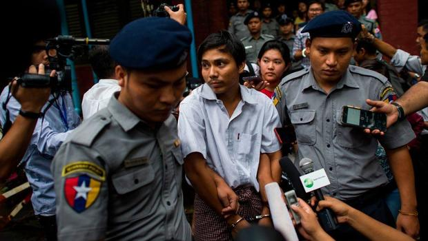 Myanmar judge jails Reuters reporters for seven years in landmark secrets case