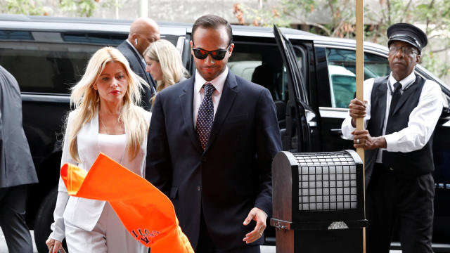 George Papadopoulos arrives arrives for his sentencing hearing at U.S. District Court in Washington