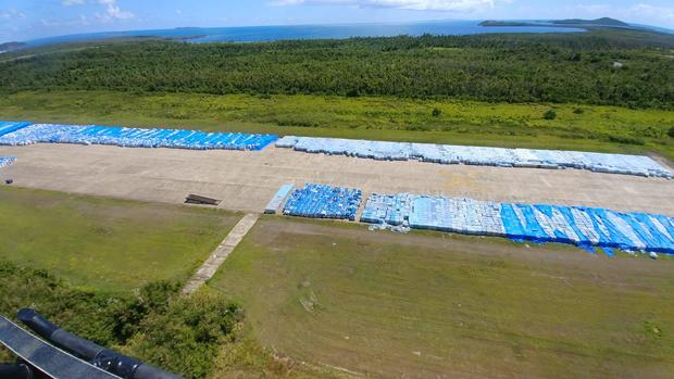 20,000 pallets of water bottles found unused on Puerto Rico runway
