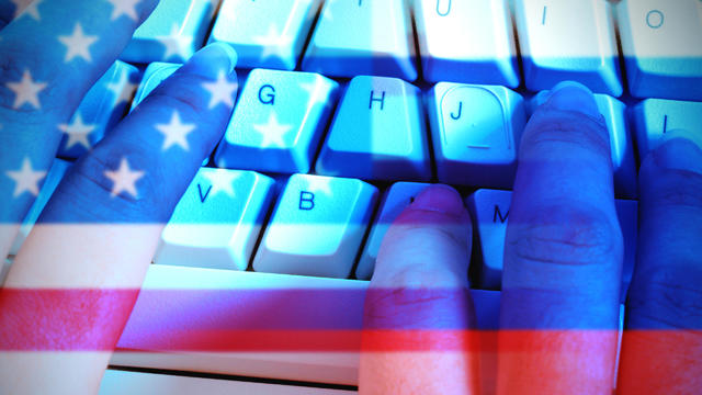 Russia Hacking American Elections Illustration