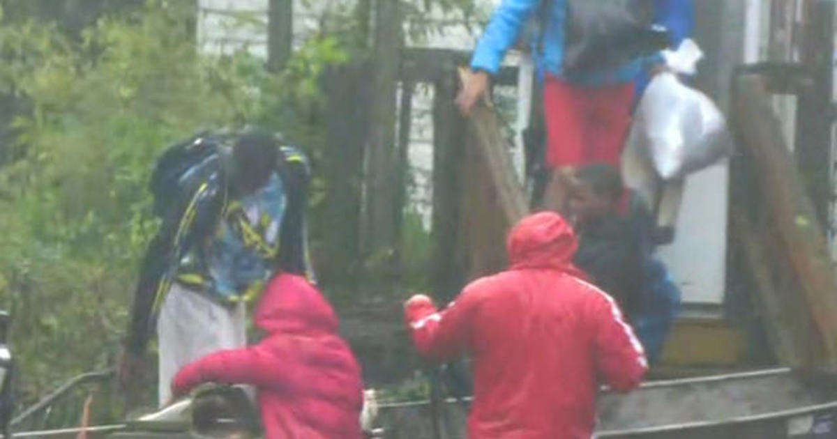 Hundreds rescued from their homes in New Bern, North Carolina