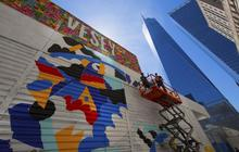 Graffiti rises at the World Trade Center site