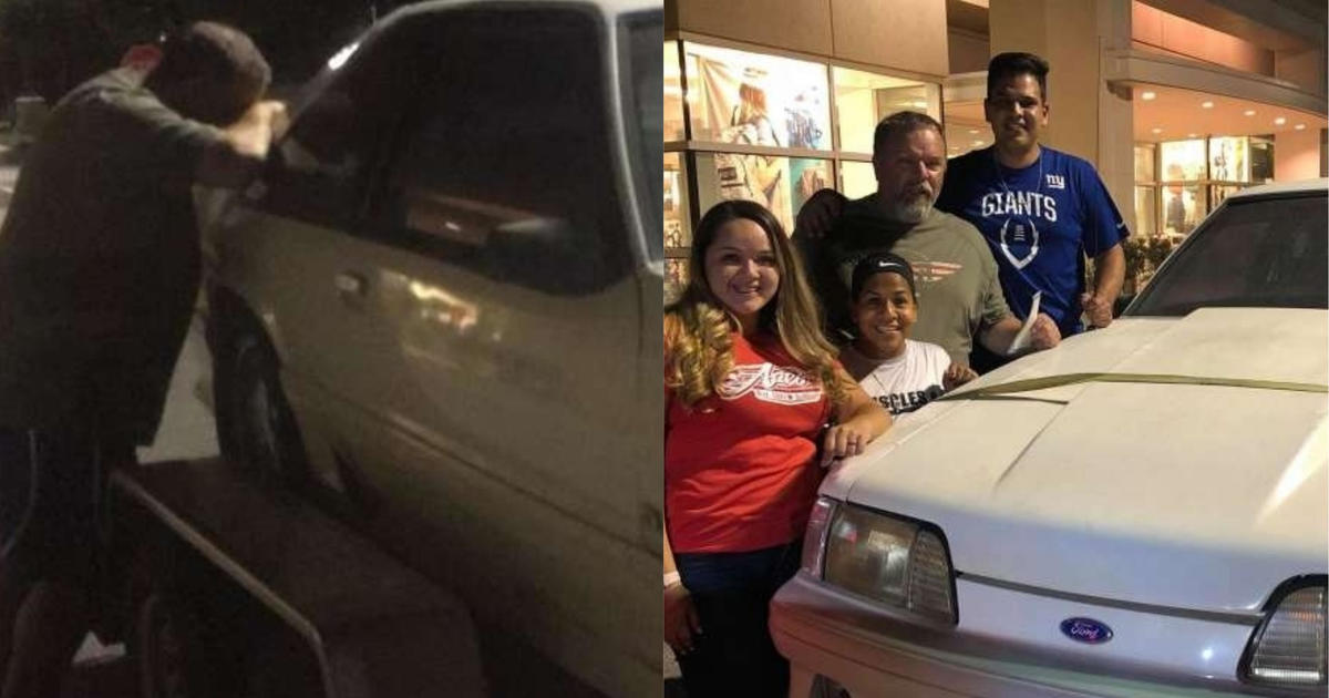 Car For Kids >> Kids buy back dad's 1993 Ford Mustang that he sold when ...
