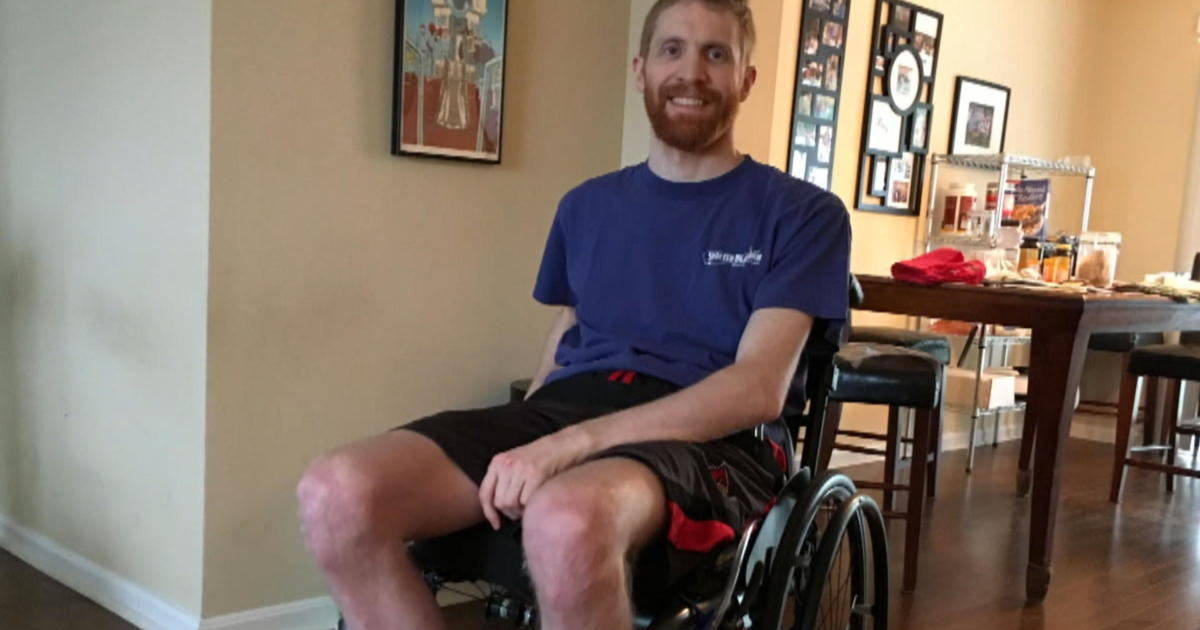Experimental device helps paralyzed man walk the length of four football fields