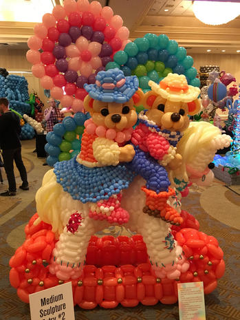 Art made of balloons