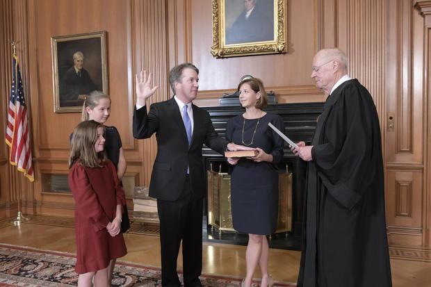 Brett Kavanaugh sworn in