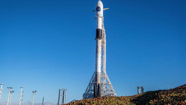 Rocket's first stage lands back at launch site