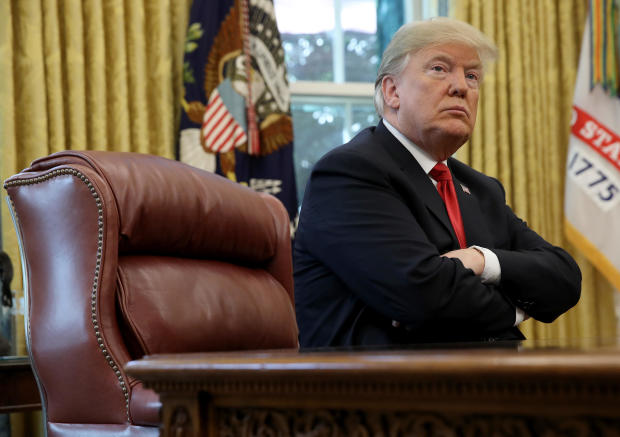 President Trump Briefed On Hurricane Michael By Secretary Of Homeland Security Nielsen And FEMA Chief Long In Oval Office