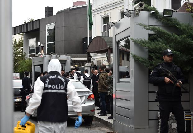Turkish investigators search Saudi consulate overnight in Khashoggi case