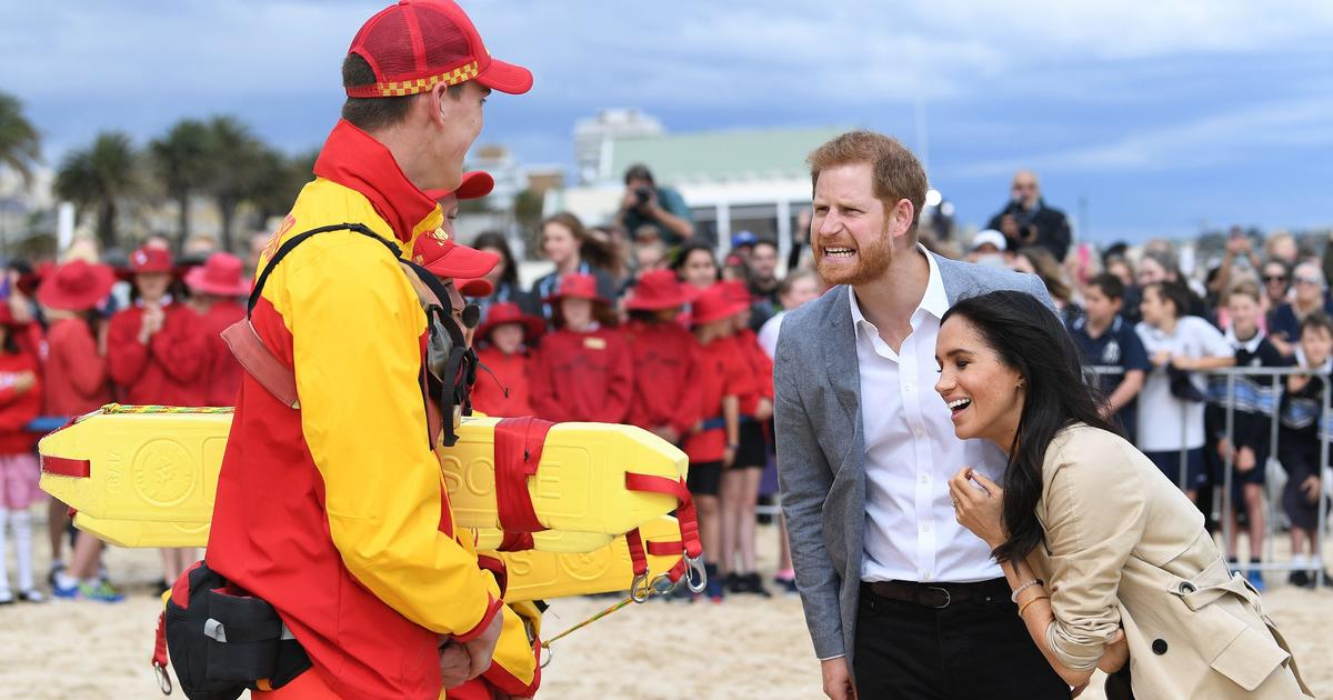 Prince Harry and Meghan charm fans with koalas and surf lessons on Australian tour
