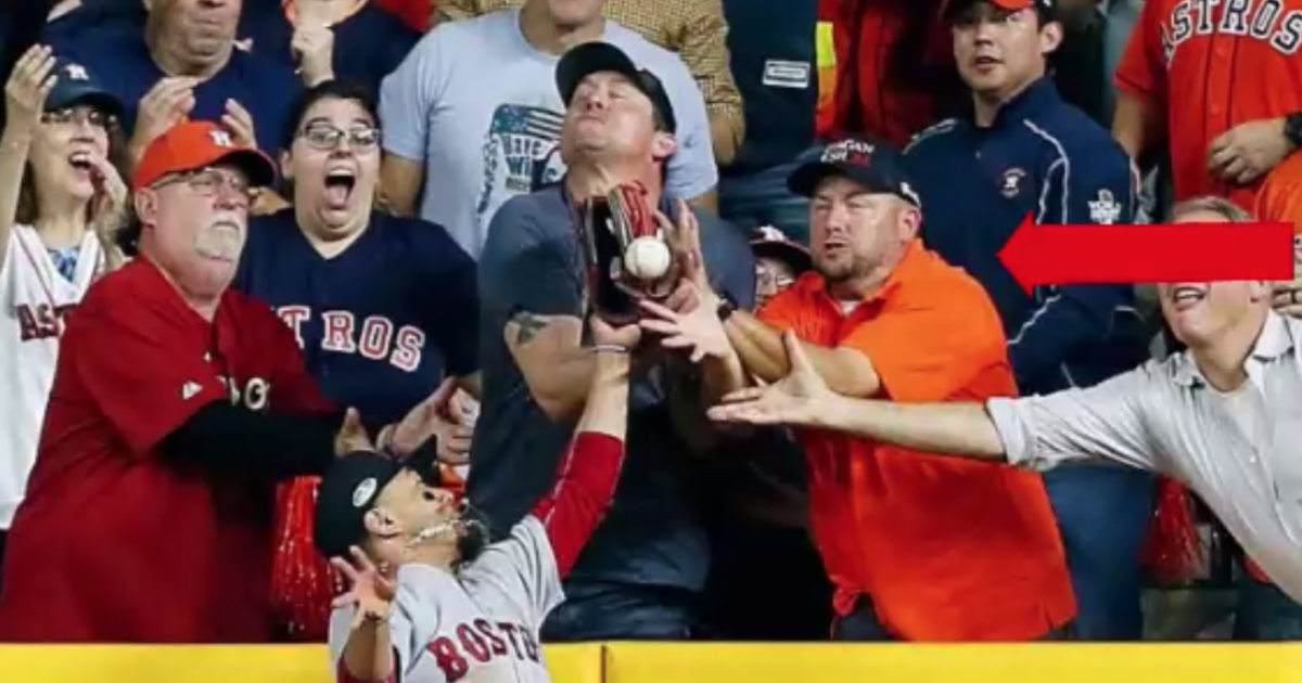 Controversial interference call against Houston Astros fan tips ALCS game in fav...