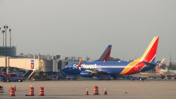 A man accused of groping a woman during a Southwest Airlines flight invoked President Trump in his defense.                        Daniel Slim  AFP  Getty Images