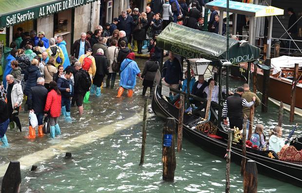 Venice high water flooding