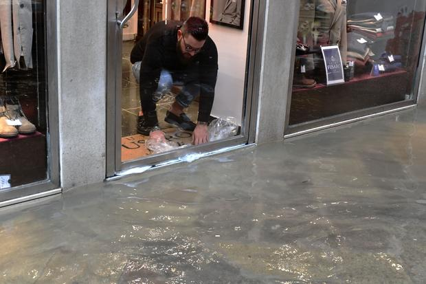 Venice flooding: City inundated by exceptional high tide