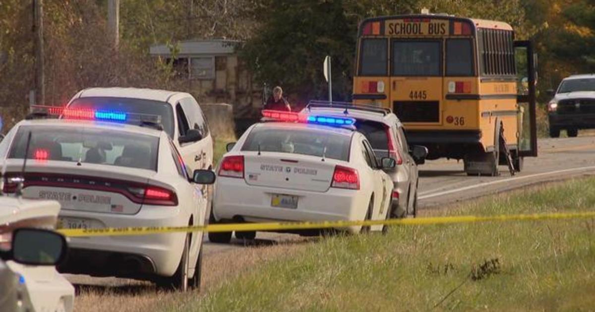 Pickup truck fatally strikes 3 siblings at Indiana school bus stop