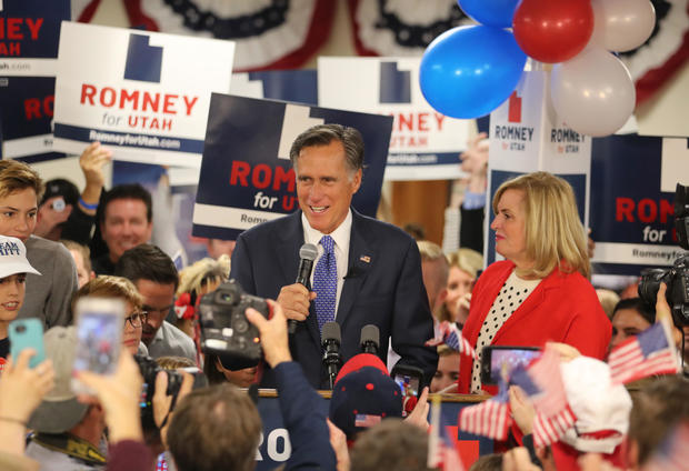 Utah Senate Candidate Mitt Romney Holds Election Night Party In Orem, Utah