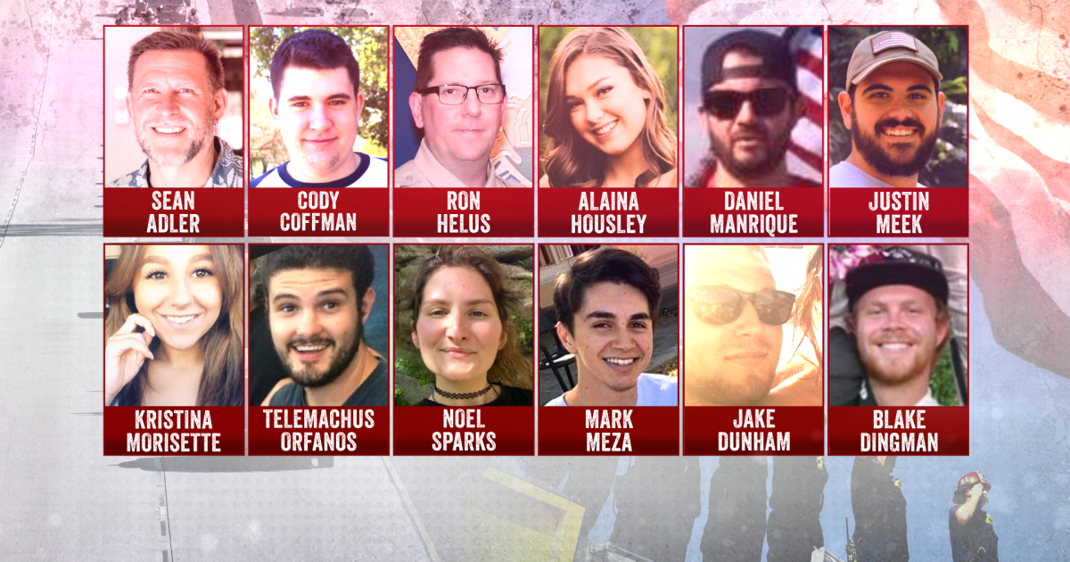 thousand oaks victims of the borderline bar shooting in california