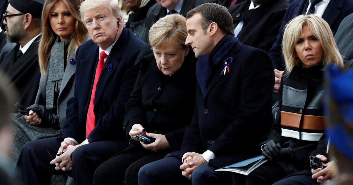Trump rips French leader over defense, wine tariffs and popularity