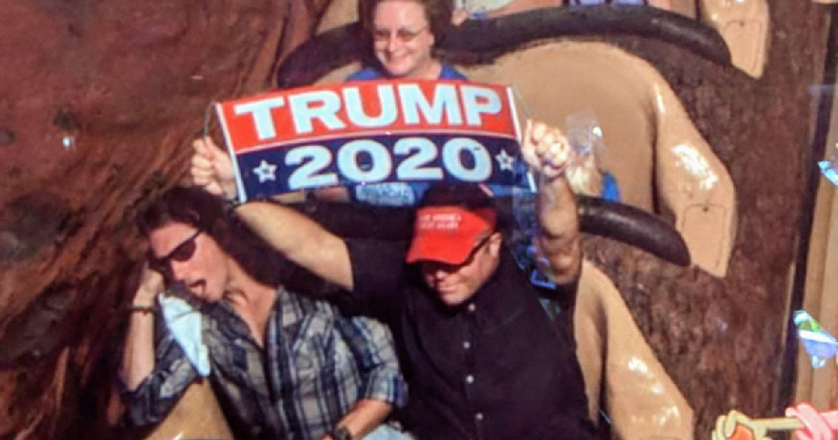 68597436 Man kicked out of Disney World after waving