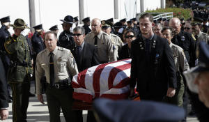 Hero killed in California shooting honored by fellow officers