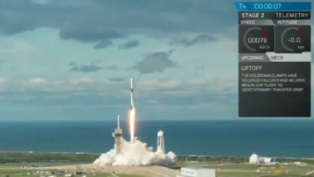 REPLAY: SpaceX liftoff with Qatari satellite marks first daytime spectacle in months