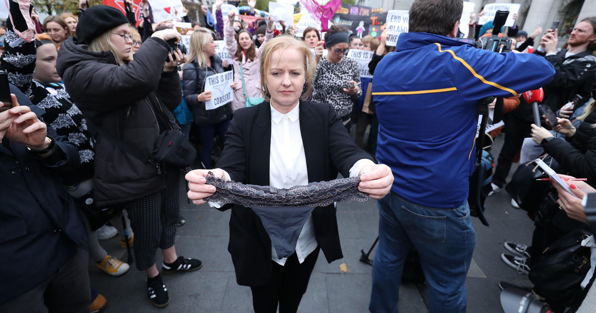 Outrage after girl's thong used as evidence of consent in Irish rape trial