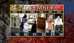 Calendar: Week of November 19